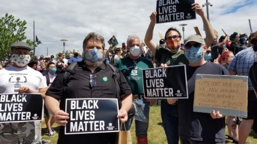Black Lives Matter rally with Kaleb Winters and Peter LaVenia