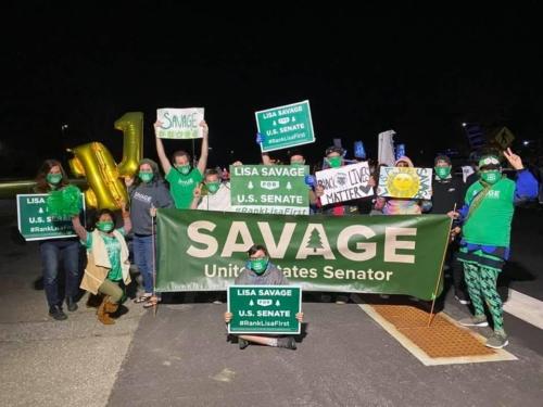 Lisa Savage supporters