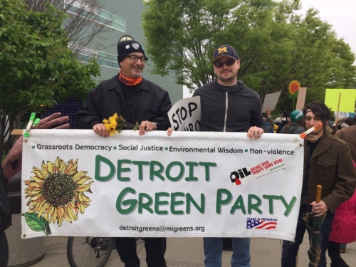 Detroit Greens at the 2017 #DetroitClimateMarch
