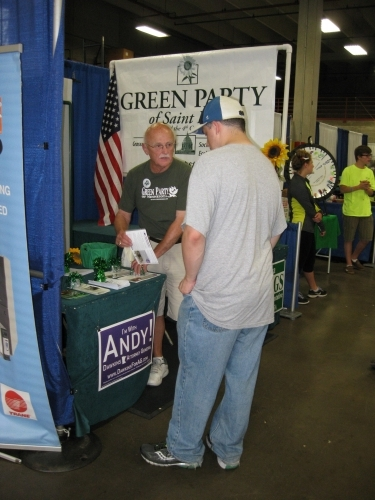 2014 Ramsey County booth visitor  Bob