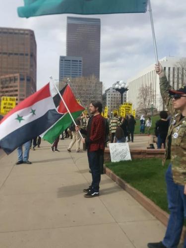 2018 anti-war rally in Denver