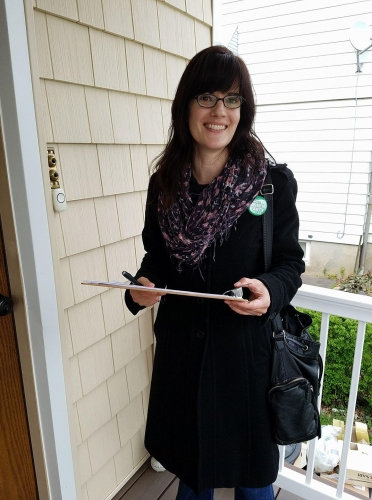 Diane Moxley petitioning