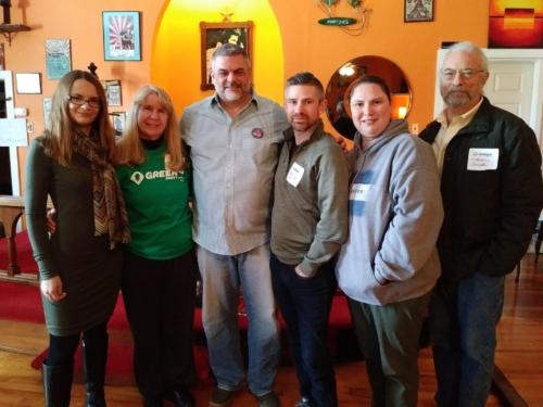 2018 Green Party of PA Steering Committee members with our Keynote Speaker, Steve Grumbine of Real Progressives