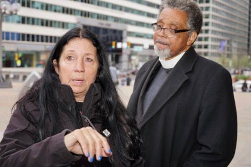 Cheri Honkala with Rev. Keith Collins