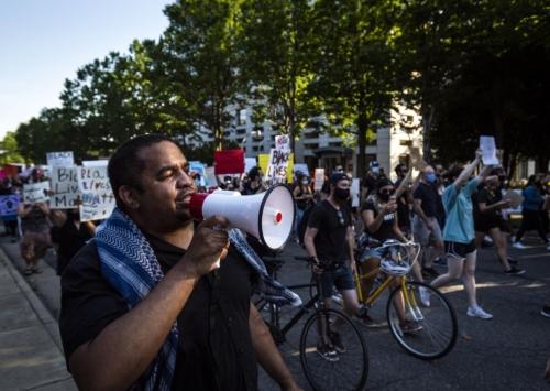 Tony Ndege at Black Lives Matter rally