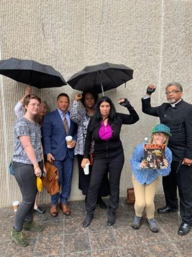 Cheri Honkala and members of Poor People's Economic Human Rights Committee