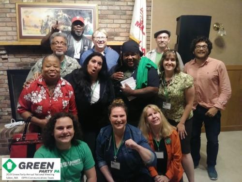PA Greens at Salem ANM fundraising