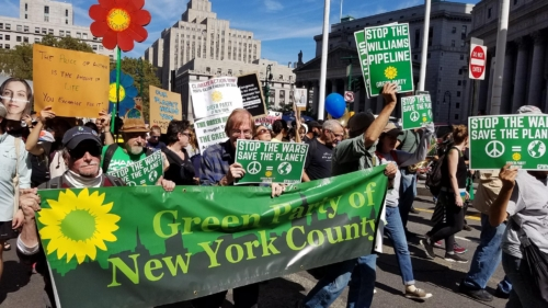 NYC Climate Change rally