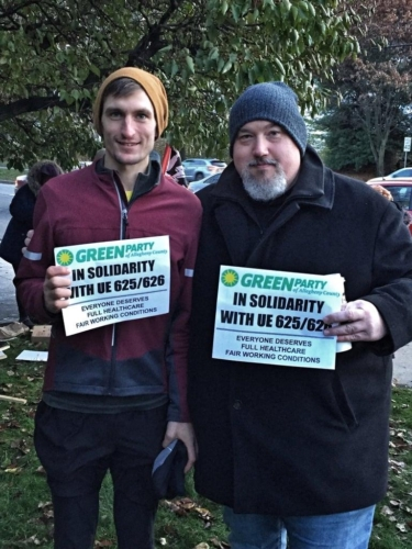 Allegheny County Greens at Union rally