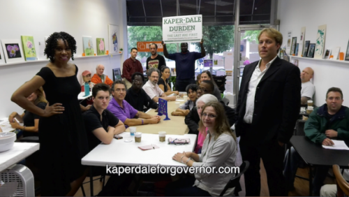 Seth Kaper-Dale and Lisa Darden with campaign team