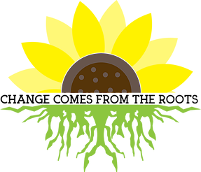 Change comes from the roots sunflower