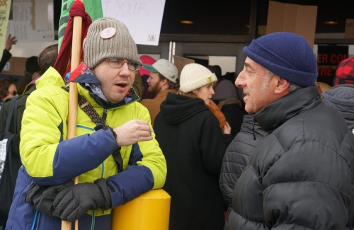 February 20202 ICE rally by Jon Flanders, ? and Steve Greenfield