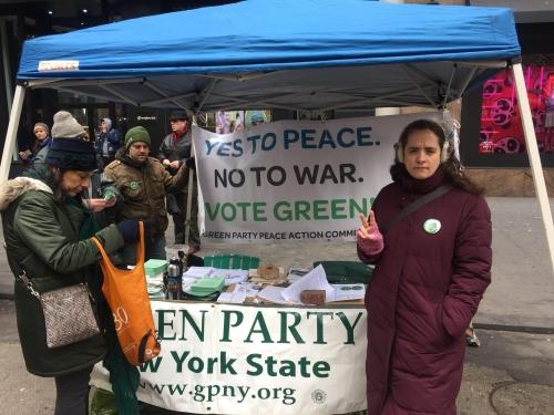 2018 anti war rally in NYC