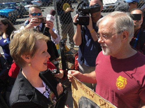 Zepher Teachout & Howie Hawkins, photo by Jimmy Viekland