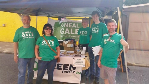 PA Greens hailed Lancaster, PA Pride to petition for our 2018 candidates, Paul Glover for Governor and Neal Gale for US Senate
