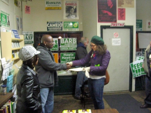 2013 campaign in Syracuse.  South Side office 6 AM Election Day