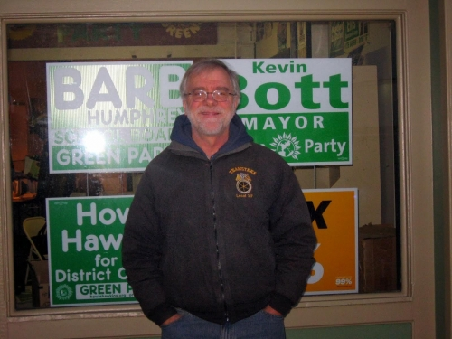 2013 campaign in Syracuse. Election morning smile