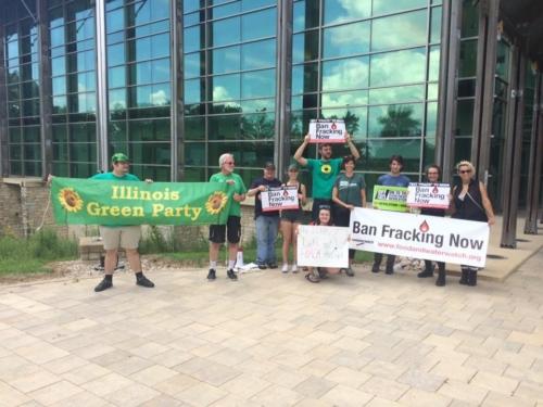 Protesting in Springfield