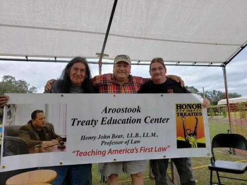 Henry Bear at Aroostook Treaty Education Center