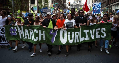 March for our Lives, at 2016 DNC Philadelphia