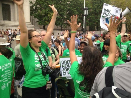 greens marching nyc