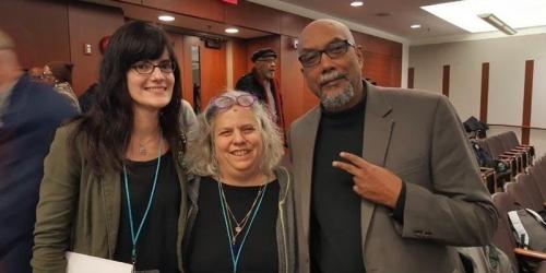 Diane Moxley, Madelyn Hoffman and Ajamu Baraka